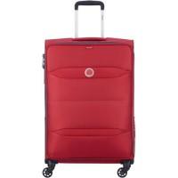 NEW EASY TRIP Valise Trolley 68 Cm 4 Roues TSA Rouge