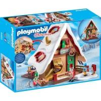 PLAYMOBIL 9493 - Christmas - Atelier de biscuit du Pere Noël avec moules - Nouveauté 2019