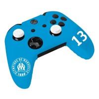OM Olympique de Marseille - Pack d'accessoires de customisation pour manette Xbox One avec housse en silicone et grips caps
