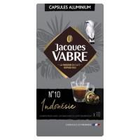 JACQUES VABRE Café Indonésie N°10 - 10 capsules - 52 g