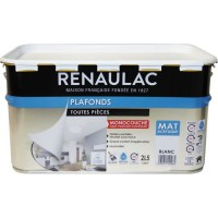 RENAULAC Peinture intérieur Plafonds Acrylique Blanc - Mat - 2,5L - 30m² / pôt
