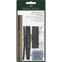 FABER-CASTELL Set crayon Pitt charcoal