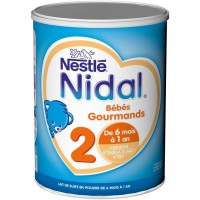 NIDAL 2 Bébés Gourmands Lait en poudre 2eme age 800G