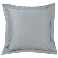 VENT DU SUD Taie d'oreiller CONCERTO Satin de coton - 65x65 cm - Gris perle