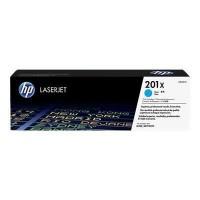 HP 201X toner LaserJet cyan grande capacité authentique (CF401X) pour HP Color LaserJet Pro M252/M274/M277