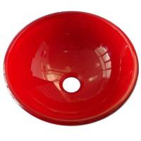 Vasque en verre Sana Ø31,5x11,5cm Rouge