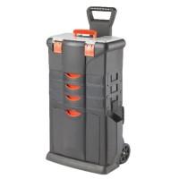 TOOD Servante boite a outils 3 tiroirs en résine 46x33x80 cm