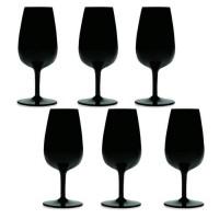 Boîte de 6 verres Dégustation noirs en cristallin