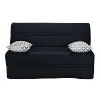 Joe Banquette BZ GEOMETRICO - Tissu noir - L 143 x P 101 x H 95 cm