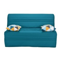 Joe Banquette BZ GEOMETRICO - Tissu turquoise - L 143 x P 101 x H 95 cm