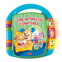 FISHER-PRICE - Livre Interactif Comptines Puppy - 6 mois et +
