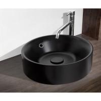MITOLA Vasque ronde Capri 38 cm de diametre noir mat