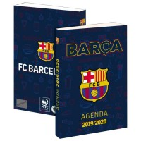 FC BARCELONE Agenda Scolaire 2019-2020 193FCB101JUP - 1 jour par page - Couverture cartonnée souple - Papier PEFC - 12 x 17 cm