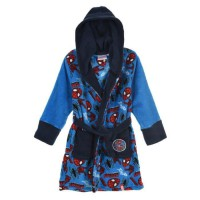 SPIDERMAN Robe de Chambre Coral Bleu marine Enfant Garçon