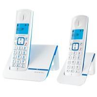 Alcatel Versatis F230 Duo Téléphone Sans Fil Sans Répondeur Blanc Bleu