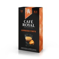 10 capsules Cafe Royal Espresso forte Capsules compatibles Systeme Nespresso