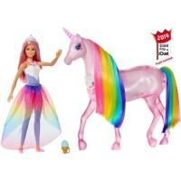 BARBIE - Barbie et sa Licorne Lumieres Magiques