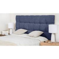 FINLANDEK Tete de lit KYNA classique - Tissu bleu denim - L 160 cm
