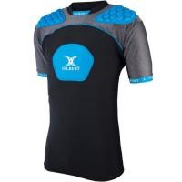 GILBERT Sous-maillot de rugby Atomic V3 - Enfant garçon - Noir et bleu