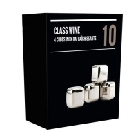 Boîte de 4 glaçons cubes inox