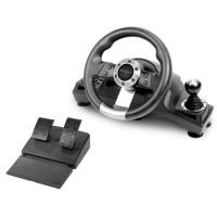 Subsonic - Volant de course Drive Pro Sport avec pédalier, palettes et levier de vitesse PS4, Xbox One, PC, PS3 (tous jeux)