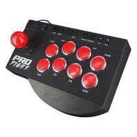 Pro Fight Arcade Stick - Manette Joystick Arcade avec boutons turbo et programmables pour PS4, PS4 Slim/Pro, Xbox One et PS3