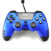 Manette filaire SteelPlay Metaltech Bleue pour PS4