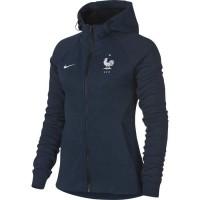 NIKE Sweatshirt de football Fleece FFF France 2018 - Femme - Bleu
