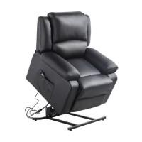 Fauteuil de relaxation releveur RELAX - Simili noir - Moteur électrique et lift releveur