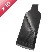 Pochette de transport - 1 bouteille - Réutilisable - Noir x10