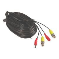 YALE Câble Coaxial BNC - Pour Caméra de Vidéosurveillance - Caméra CCTV/Enregistreur DVR - 18 m