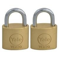 YALE Lot de 2 Cadenas Laiton - 3 Clés - Pour Valise de Voyage, Bagages, Sac a Dos - 20 mm