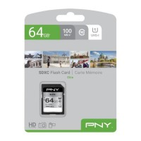 PNY Carte mémoire SD 64GB ELITE C10 U1