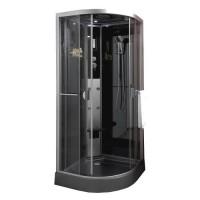 Cabine de douche hydromassante Ned 1/4 cercle 90 - Montage sans silicone