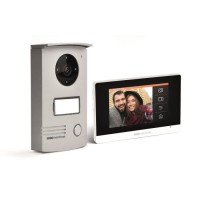 "VisioDoor 4.3+ - Interphone vidéo filaire avec moniteur extra plat tactile 4,3"""