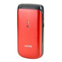 Téléphone sénior mobile M215 clapet SWITEL - Sonnerie et volume ultra fort - Écran couleur 2.0 pouces - Rouge