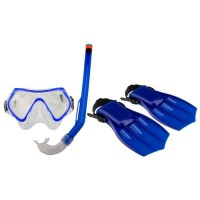 WAIMEA Kit palmes masque tuba pour enfants - Bleu