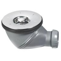WIRQUIN Bonde de douche James - Ø 90 mm - Grille en ABS chromé - 34230004