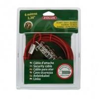 ZOLUX Câble d'attache avec ressort - 6 m - Pour chien