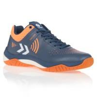 HUMMEL Chaussures de Handball Dual Plate Impact - Homme - Bleu Marine et Orange - Taille 40