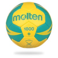 MOLTEN Ballon de Handball - Jaune et Vert - Taille 0 (- de 8 ans)