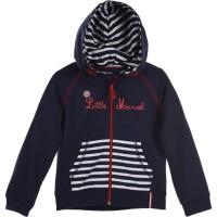 LITTLE MARCEL Sweat Capuche Zippé Garçon 60% Coton/40% polyester Marine - Taille 10 ans