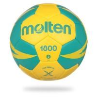 MOLTEN Ballon de Handball - Jaune et Vert - Taille 2 (14/16 ans et Femme)