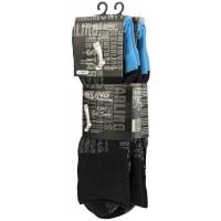 STARLING Lot de 2 Chaussettes de Ski 245 - Enfant garçon - Noir et Bleu - Taille 31/34