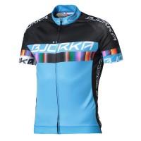 BJORKA Maillot de cyclisme Strada - Noir et bleu - Taille L