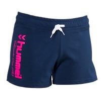 HUMMEL Short de Handball Lady UH - Femme - Bleu Marine et Rose Fluo - Taille M
