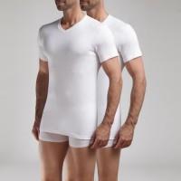 DIM T-shirt Col V Ecodim x2 Blanc - Taille M