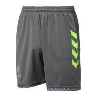 HUMMEL Short de Handball Campaign AH18 - Homme - Noir Asphalte et Vert Acide Lime - Taille XL