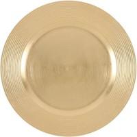 ABS T1904301-OX lot de 6 dessous d'assiettes en pp effet perle d33cm - Or