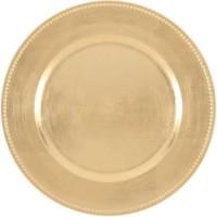 ABS T1904302-OX lot de 6 dessous d'assiettes en pp effet relief circle d33cm - Or